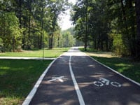 Paved running trail